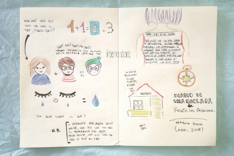 Ti illustro un racconto - Diario di una scolara di Prabda Yoon - interno storie