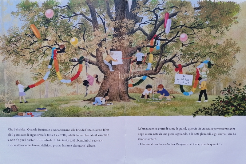 Matite - Le vacanze - La grande quercia - interno storie
